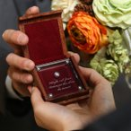 ダイヤモンドプロポーズ 0.150ctクラスルース 3EX H&C『成功のあと婚約指輪、ネックレスへ』マホガニーケース、鑑定書付き