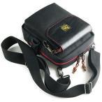 7インチタブレット、長財布、500mlのペットボトルなどが入る赤いファスナーの サブバッグ (フロントポケット: ベルクロタイプ)< メンズ  ショルダーバッグ >
