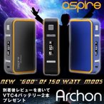 Yahoo!VAPE STEEZAspire Archon BOX MOD 温度管理機能付き サブオーム対応 最大出力150W 18650バッテリー2本使用