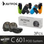 ( メール便で 送料無料 ) JUSTFOG C601 交換POD ジャストフォグ 交換コイル 1.7ml 1.6ohm 電子タバコ スターターキット 正規 VAPE】