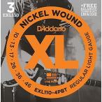 D'Addario ダダリオ エレキギター弦 バンドルパック ニッケル 計4セット Regular Light EXL110-4PBT[メール便発送、送料無料、代引不可]
