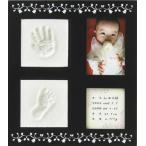 ショッピング赤ちゃん 赤ちゃん手形足型 トレジャー フレームカラーブラック 日本製 __