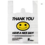 クロスワーク スマイル柄プリントのビニールレジ袋 たっぷり使える約100枚入り![メール便発送、送料無料、代引不可]
