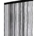 リタプロショップⓇ ひもスクリーン 100 200cm ストリングカーテン のれん 間仕切り おしゃれ インテリア オフィス家具  ブラック
