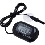 LCD デジタル水温計 《ブラック》 水槽 温度計 デジタル 吸盤付 金魚鉢 アクアリウム テラリウム 水槽 水温管理 _