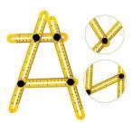 自由スコヤ 折りたたみ定規 四つ折り 折りたたみ 四角 物差し 直尺 曲尺 _