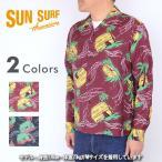 SUN SURF サンサーフ SS26813[a5]2015年モデル アロハシャツ 長袖 『HAWAIIAN VILLAGE』P27Mar15 メンズ