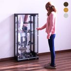 コレクションケース 幅62 高さ128 鍵付き 低め LEDライト付き フィギュアケース 完成品 人気