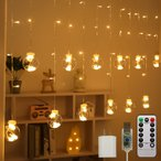 イルミネーション ライト カーテンライト ボール型 W2.5m USB コンセント リモコン付属 室内用 部屋 LED かわいい 電飾 クリスマス