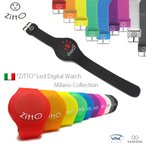 """イタリア ミラノ製 腕時計 """"ZITTO(ジット)"""" LED デジタル アレルギー・フリーラバー ブレス・ウォッチ"""
