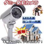 ダミー防犯カメラ / 監視カメラ 防犯 ダミーカメラ LED点滅 全面LED付き 屋外 不審者を威嚇