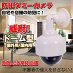 防犯 ダミーカメラ ドーム型 LED点滅 防犯カメラ 屋内 自宅や店舗の防犯用セキュリティカメラ