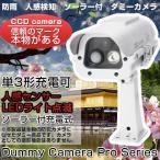 ダミーカメラ 防犯カメラ ダミー 人感センサー 屋外用 ソーラー LED点滅 防雨