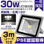 LED投光器  屋外 LED投光器 30W 300W相当 昼光色 IP65 6000-6500K 3mコード 防塵防水 看板灯 集魚灯 作業灯 「1年保証」