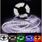 LEDテープライト 24V 5m LEDテープ 5m 防水 300連5050SMD 白ベース 正面発光 全5色