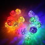 イルミネーション LEDライト ソーラー 充電式 LEDイルミネーションライト藤球灯 電池式 20球 4色 LED イルミネーション クリスマス 照明器具