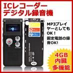 便利で使いやすいICレコーダー★CL-R30録音再生4GB搭載デジタルボイスレコーダー 小型 長時間 高性能 ブラック