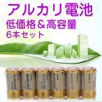 乾電池 アルカリ電池 6本セット 54本までネコポスOK