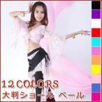 ベリーダンス ベール アクセサリー 民族衣装 大判ショール ヘッドスカーフ 12色選択『メール便対応可』
