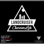 Outdoor Life LANDCRUISER ランドクルーザー カッティング ステッカー