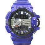カシオジーショック CASIO G-SHOCK ジーミュージック G-MIX 腕時計 GBA-400 紫系 スマホ連動  メンズ【中古】【ベクトル 古着】