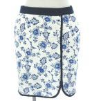 マッシモデュッティ Massimo Dutti スカート ミニ レース 刺繍 白 青 紺 34 レディース【中古】【ベクトル 古着】