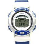 【中古】カシオ CASIO 腕時計 PRO TREK プロトレック デジタル PRL-10ISJ クォーツ ブルー ホワイト レディース 【ベクトル 古着】