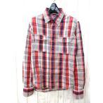 ティーエムティー TMT シャツ 長袖 チェック コットン 赤 青 オレンジ M メンズ【中古】【ベクトル 古着】