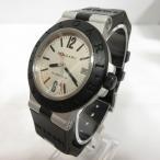 ブルガリ BVLGARI アルミニウム ALUMINUM AL38A 腕時計 アナログ 自動巻き 3針 デイト ラバーベルト シルバー ブラック