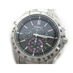 セイコー SEIKO ブライツ クロノグラフ ソーラー 電波 腕時計 SAGA051 ブラック 黒文字盤【中古】【ベクトル 古着】