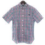【中古】フレッドペリー FRED PERRY シャツ 半袖 ギンガムチェック ボタンダウン コットン XS マルチカラー メンズ 【ベクトル 古着】