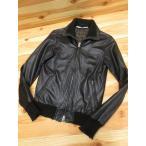 ジョルジオブラット GIORGIO BRATO 羊革 ライダースジャケット ブルゾン 44 黒 メンズ【中古】【ベクトル 古着】