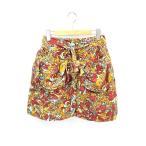 【中古】ムチャチャ muchacha 総柄 コーデュロイ ミニ スカート XL  【ベクトル 古着】