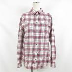 ユニクロ UNIQLO シャツ カジュアルシャツ ネルシャツ チェック タータンチェック 長袖 レッド 赤 ホワイト 白 S