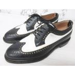 ブラック フリース バイ ブルックス ブラザーズ BLACK FLEECE BY BROOKS BROTHERS レザーシューズ 革靴 ウイングチップ バイカラー 白黒 ホワイト ブラック