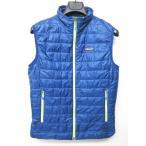 パタゴニア Patagonia プリマロフト ナノパフ ベスト ジャケット 青 黄緑 XS 84241 0421 メンズ【中古】【ベクトル 古着】