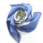 【中古】エルメス HERMES カレ90 スカーフ BRIDES de GALA 式典用馬勒 シルク 青 白 0319 レディース 【ベクトル 古着】