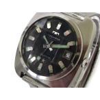 テクノス TECHNOS AUTOMATIC Supercron スーパークロン オートマチック 腕時計 自動巻き 9面 カットガラス SS 黒文字盤 メダリオン 170528YK01s メンズ【中古】