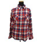 ユニクロ UNIQLO チェック ネルシャツ ブラウス カットソー 長袖 赤 青 白 XL レディース/k105【中古】【ベクトル 古着】