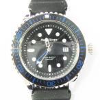 フランテンプス Franc Temps 腕時計 ダイバーズウォッチ ラバーベルト 3針 カレンダー クォーツ 黒 ブラック系 青 ブルー系 メンズ【中古】【ベクトル 古着】
