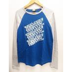 トゥナイト TONITE ラグラン長袖Tシャツ ロンTカットソーS青ブルー● メンズ【中古】【ベクトル 古着】