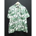 ナイトレイド NITRAID シャツ 半袖 総柄コットンL緑グリーン メンズ【中古】【ベクトル 古着】