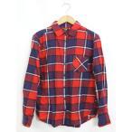 ユニクロ UNIQLO ネルシャツ シャツ コットン 綿 チェック柄 長袖 M レッド 赤 /YT7 レディース【中古】【ベクトル 古着】