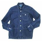 レイジブルー RAGEBLUE インディゴ デニム カバーオール ジャケット シャツ L L3 メンズ【中古】【ベクトル 古着】