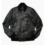 バックナンバー BACK NUMBER ラムレザー シングル ジャケット L 黒 ブラック D6 メンズ【中古】【ベクトル 古着】