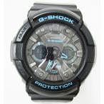 ショッピングカシオ カシオジーショック CASIO G-SHOCK 腕時計 GA-201BA アナデジ 防水 黒 ブラック 青 ブルー d2 メンズ【中古】【ベクトル 古着】