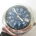 スウォッチ SWATCH IRONY レザーベルト クォーツ 腕時計 シルバーカラー メンズ【中古】【ベクトル 古着】
