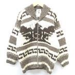 ノーブランド オーセンティック カウチン インディアン ニット セーター メンズ【中古】【ベクトル 古着】