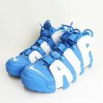 【中古】ナイキ NIKE AIR MORE UPTEMPO 96 UNIVERSITY BLUE 921948-401 US9.5 27.5cm エア モア アップテンポ スニーカー靴 青 ブルー メンズ 【ベクトル 古着】