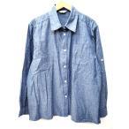 Confidence 長袖 シャツ シャンブレー ブラウス ゴルフ 青 ブルー LL コットン 大きいサイズ B52751 レディース 【ベクトル 古着】【中古】